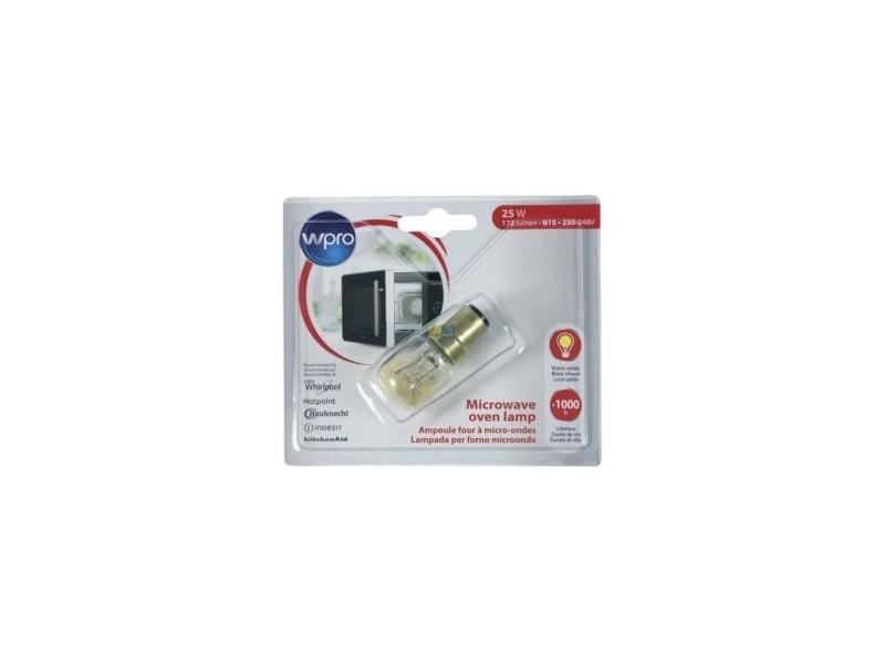 Wpro lmo147 - ampoule pour micro ondes - b15 t25 - 25w - 220v