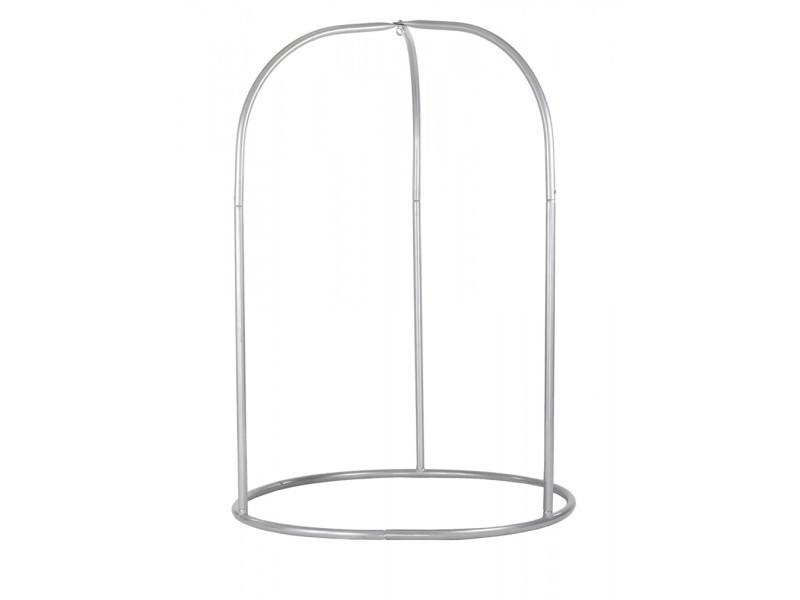 Support pour chaise-hamac en acier rima silver, dim : 225 x 160 cm -pegane-