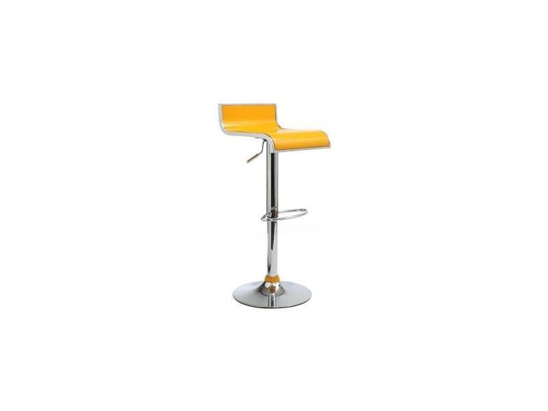Tabouret de bar cuisine jaunes design waves lot de 2 - Tabouret de cuisine design jaune ...