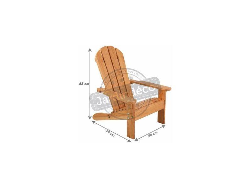 Chaise de jardin enfant en bois adirondack vente de - Conforama chaise de jardin ...