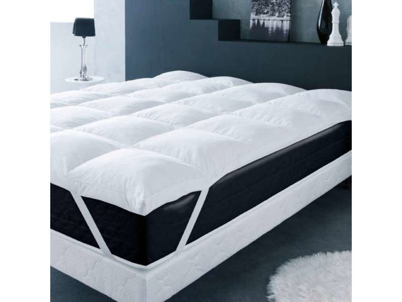 surmatelas plume d oie 140x190cm vente de prot ge. Black Bedroom Furniture Sets. Home Design Ideas
