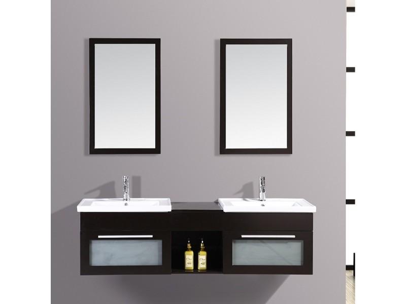 Le pacific wengé : ensemble meuble de salle de bain en chêne ...