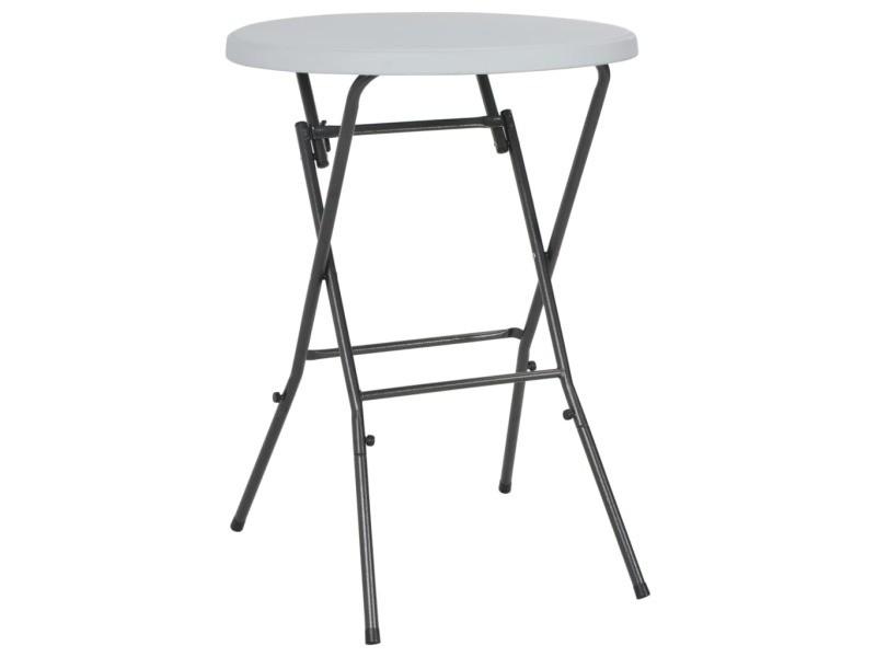 Vidaxl table de bar pliante blanc 80 x 110 cm pehd 44560