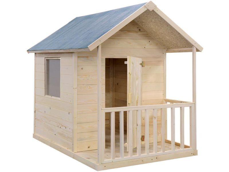Maison enfant en bois brut kangourou B_332
