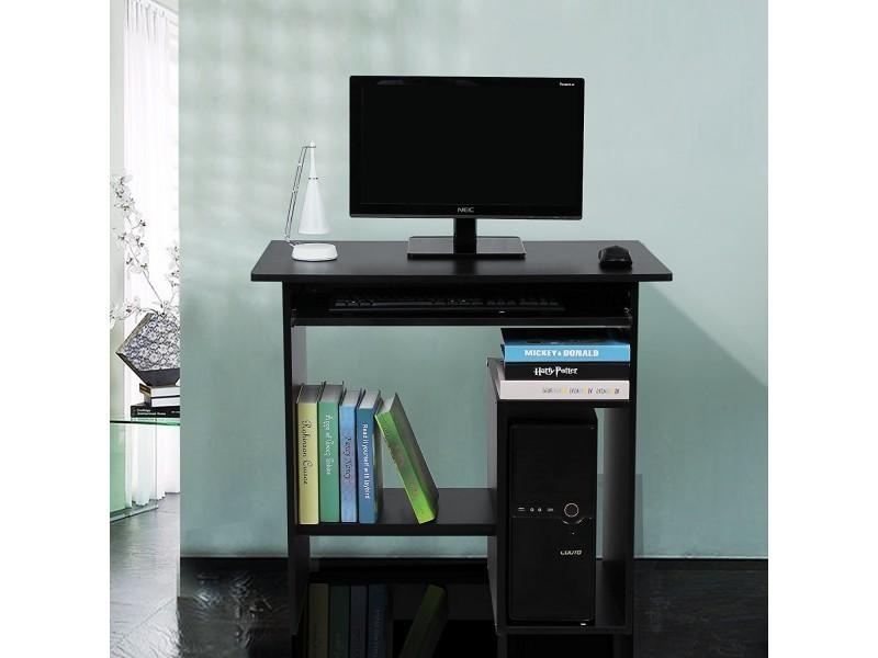 Superbe bureau informatique avec etagère noir neuf sglcd b