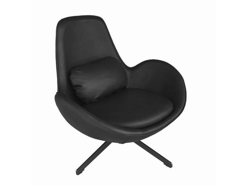 Space - fauteuil rotatif en aspect cuir noir