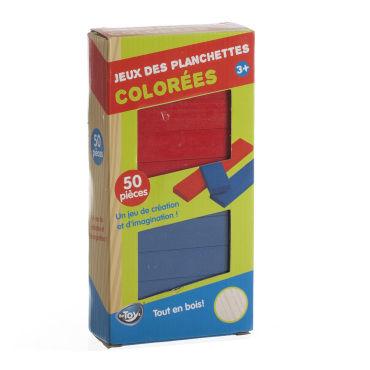 jeu de construction planchettes 50 planchettes color es vente de jeux de soci t. Black Bedroom Furniture Sets. Home Design Ideas
