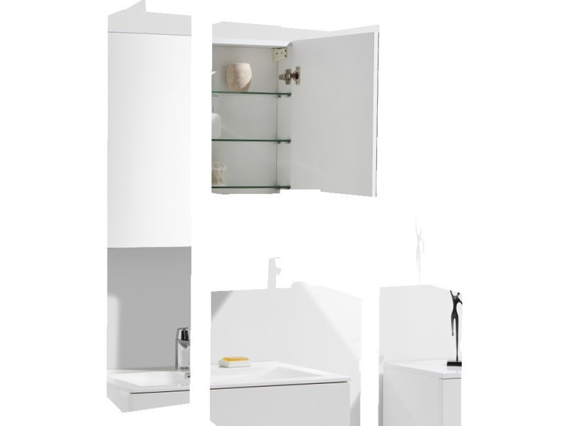 Armoire toilette conforama top free excellent armoire de for Miroir autocollant ikea