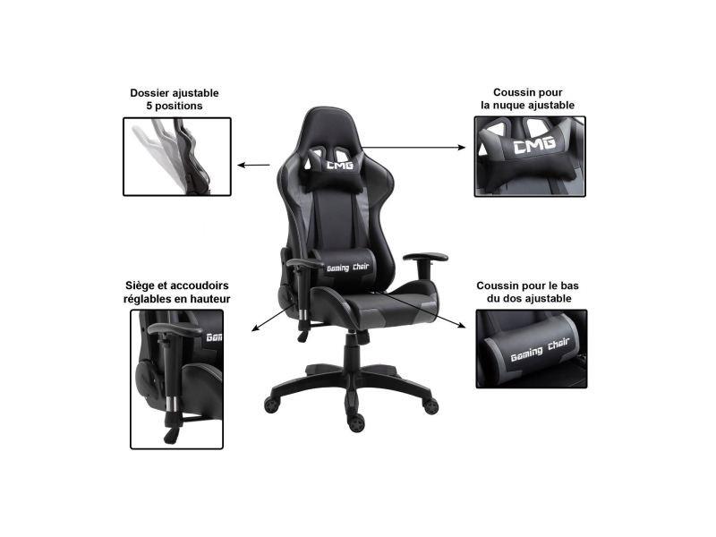Chaise De Bureau Gaming Fauteuil Gamer Chair Style Racing Racer