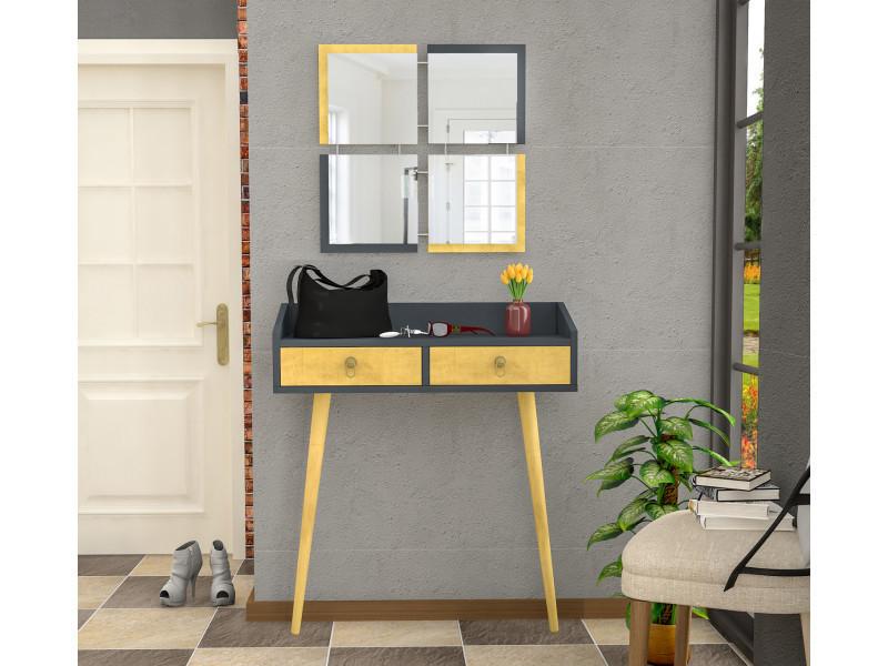 Console stylishkoseli gris anthracite et jaune