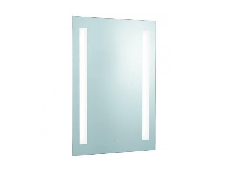 Miroir lumineux salle de bain, verre miroir, prise rasoir