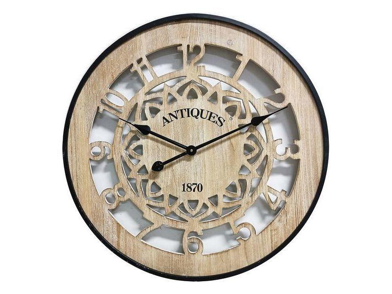 Horloges murales et de table esthetique horloge murale bois mdf/métal (4,5 x 60 x 60 cm)