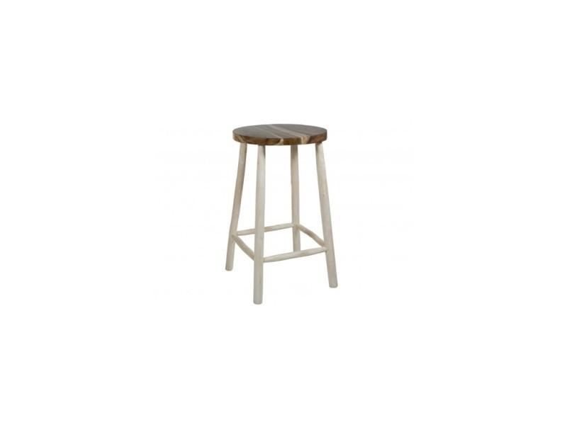 Table haute d'extérieur bois flotté capri