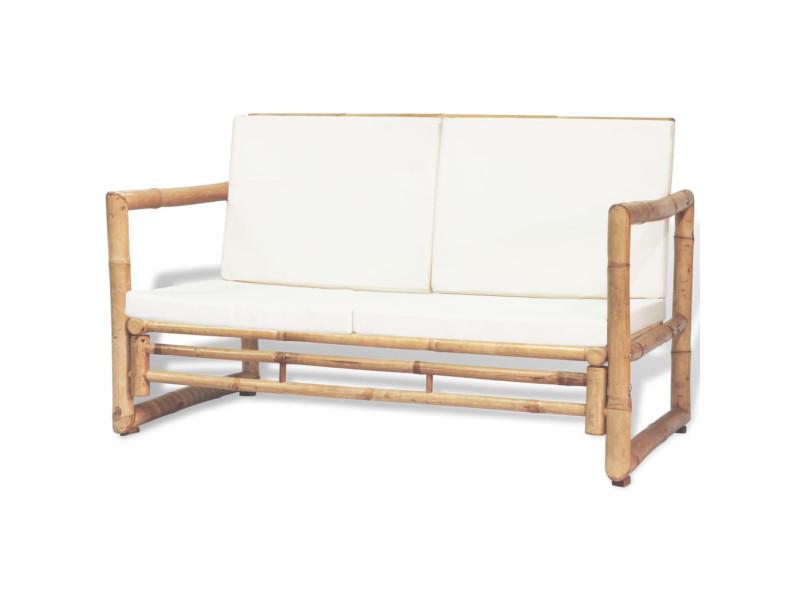 vidaxl ensemble de mobilier de jardin 12 pcs bambou 43159 vente de vidaxl conforama. Black Bedroom Furniture Sets. Home Design Ideas