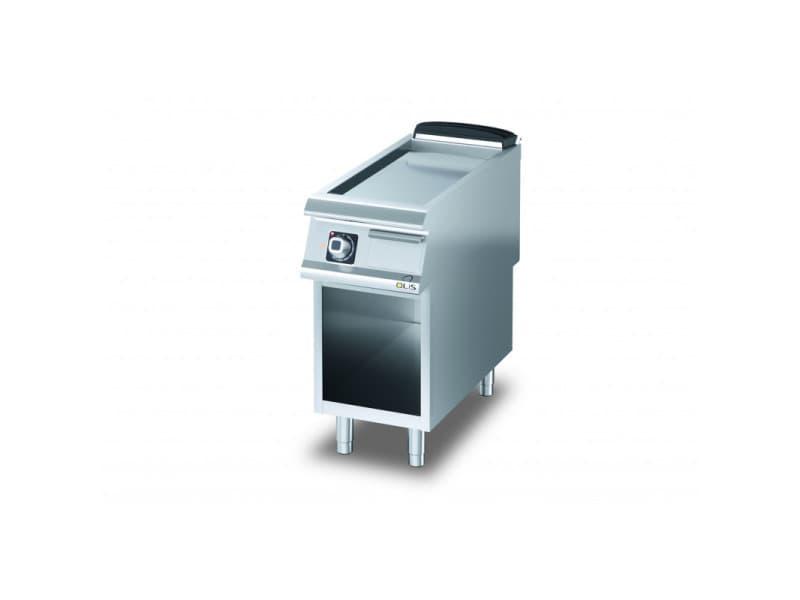 Plancha electrique lisse aisi 430 sur placard diamante 90 - 400 à 1200 mm - olis - acier 400 mm