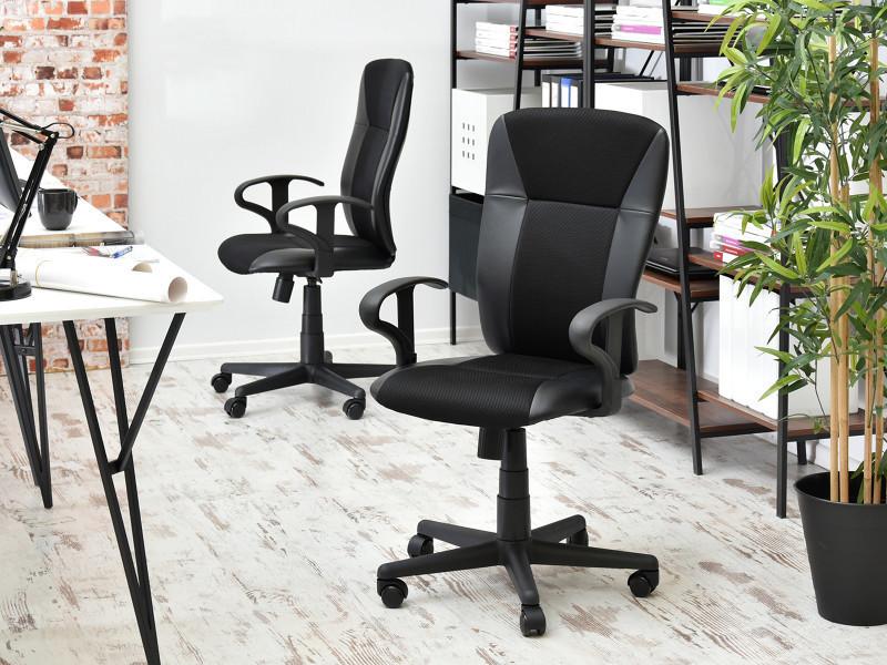 Chaise de bureau fauteuil de bureau sunds cm noir