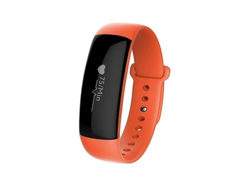 Bracelet sport iphone android montre connectée etanche ip67 orange