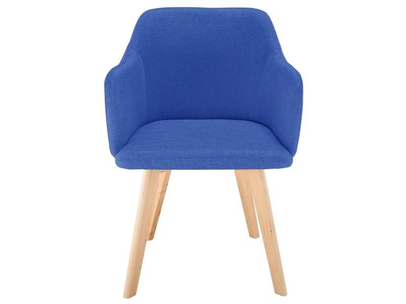Chaise style scandinave candy tissu bleu - Vente de Chaise - Conforama 89a3e32418ac