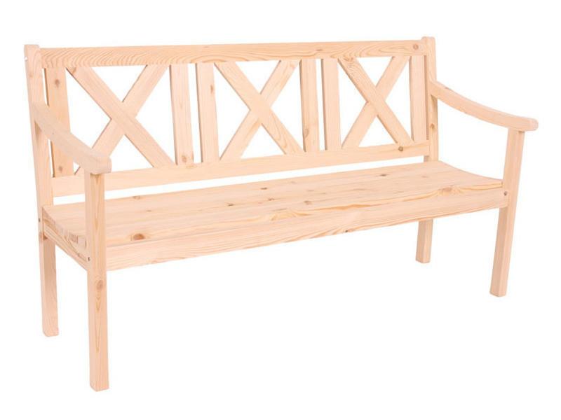 Banc de jardin copenhague 3 places en bois gastro, 160 cm -pegane-