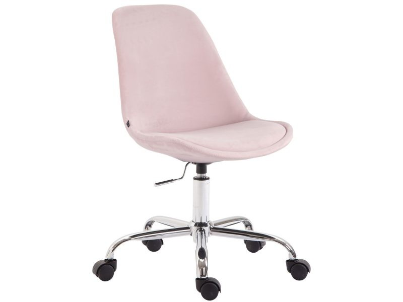 conforama chaise bureau rose