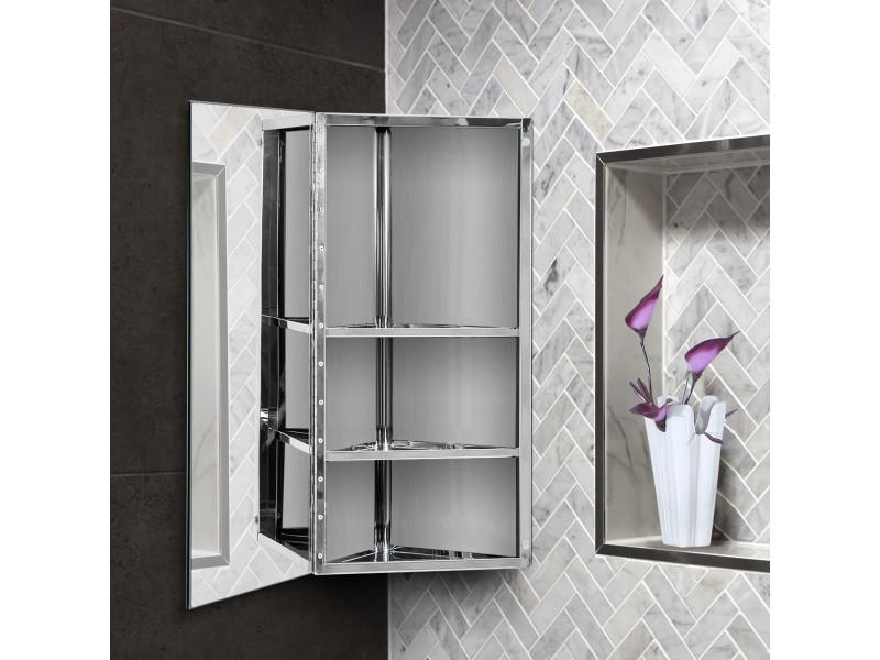 Armoire miroir rangement toilette salle de bain meuble mural ...