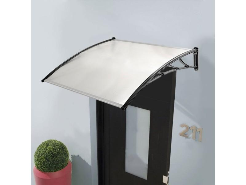 Auvent de porte marquise d'accueil 80x120 cm polycarbonate