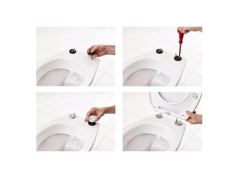 Ridder siège de toilette generation fermeture en douceur blanc 2119101 421506