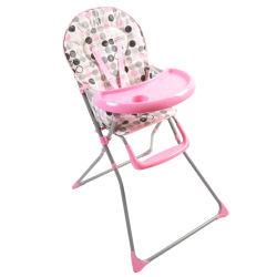 Chaise haute king bear - coussin imprimé plateau rose