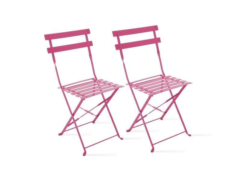 Lot De 2 Chaises Pliantes Bistrot Vente De Chaise Conforama