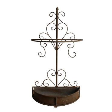 porte parapluies mural rusty en m tal vente de idee. Black Bedroom Furniture Sets. Home Design Ideas