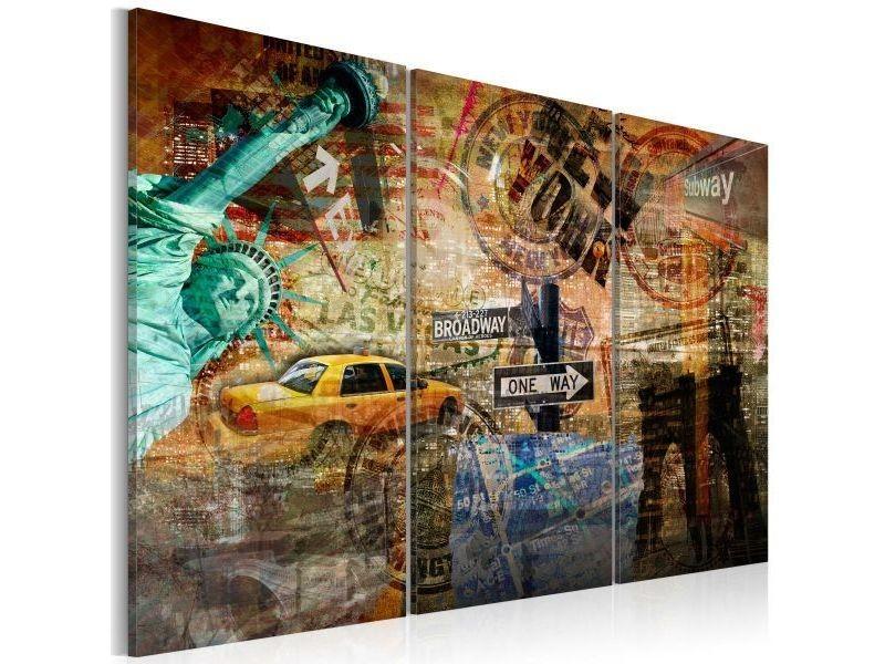 Tableau l'essence de new york taille 60 x 40 cm