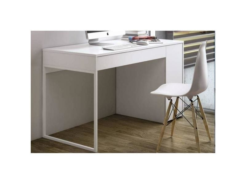 temahome prado bureau blanc mat avec 1 tiroir et 1 caisson 20100827513 vente de bureau conforama. Black Bedroom Furniture Sets. Home Design Ideas