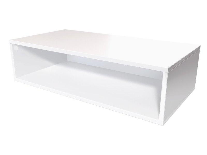 Cube de rangement 100x50 cm bois blanc CUBE100-LB