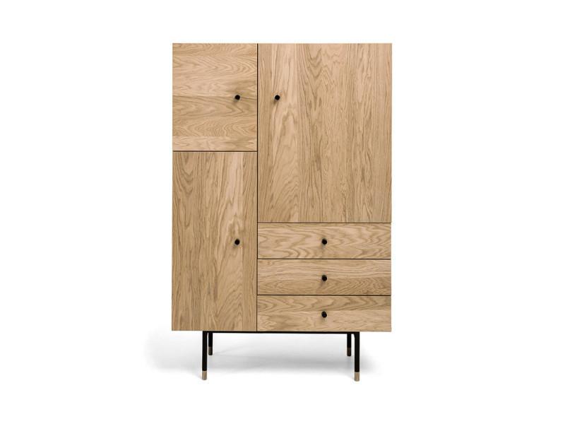 Jugend - buffet haut design bois et métal - couleur - chêne 222216201162