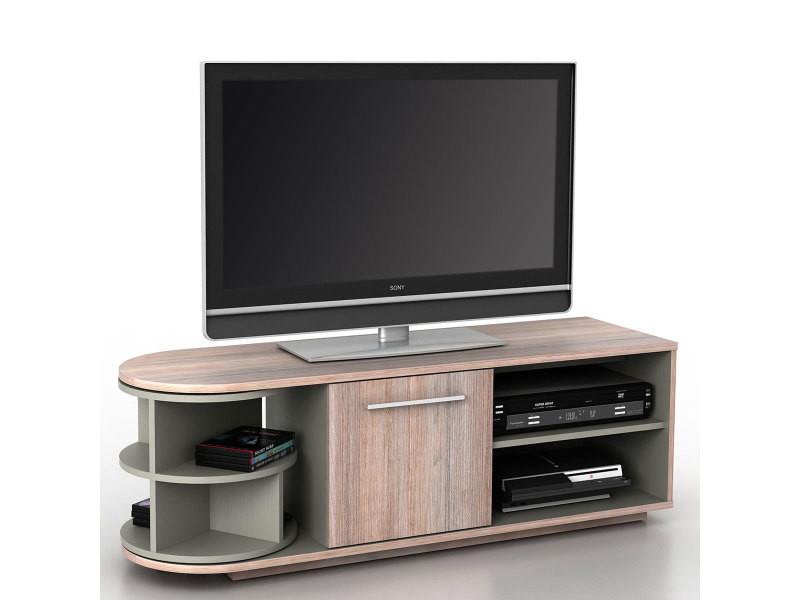 Meuble Bas Tv Arau Rack Tv Table De Television Avec Element