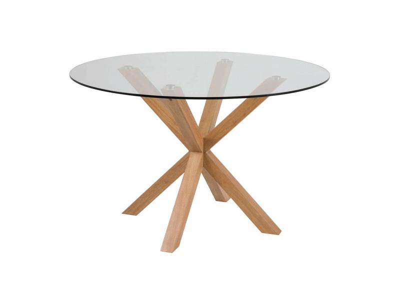 Bobochic table à manger d120 cm luna chêne clair