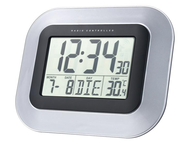 Horloge Murale Avec Date, Alarme Et Température Intérieure