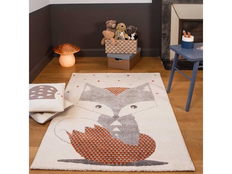 Tapis chambre renard blanc 135 x 190 cm fabriqué en europe tapis ...