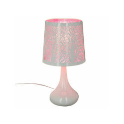 simple lampe white touch arbre rose with lampe de chevet