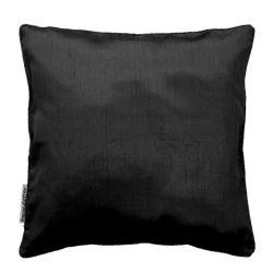 Housse de coussin polyester shantung uni shana noir 40 x 40 cm