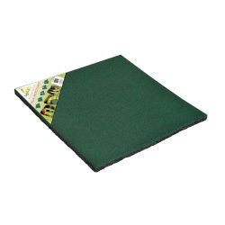 Dalle de jeux amortissante caoutchouc vert 50 x 50 x 2 cm