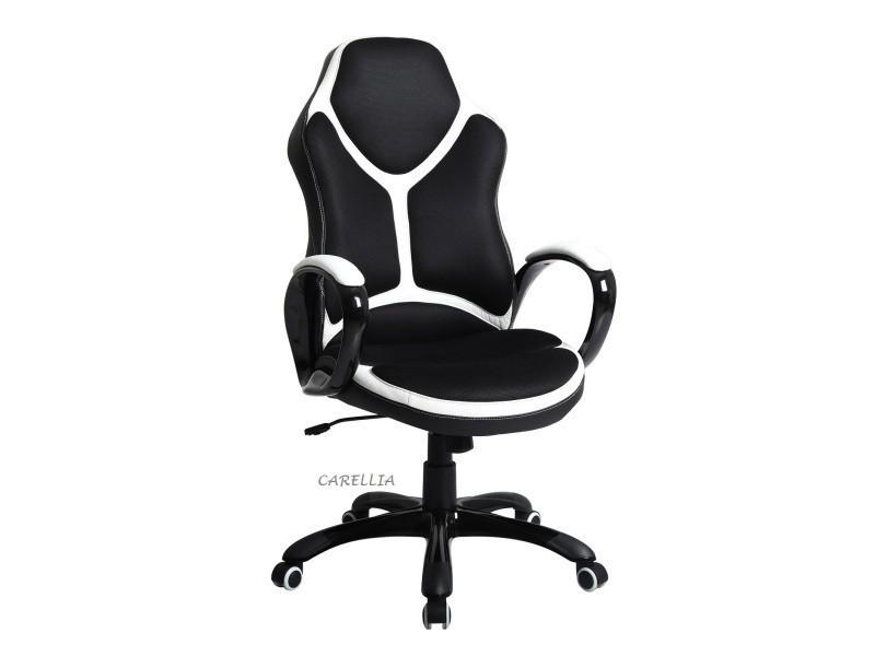 Fauteuil de bureau noir blanc vente de fauteuil de bureau