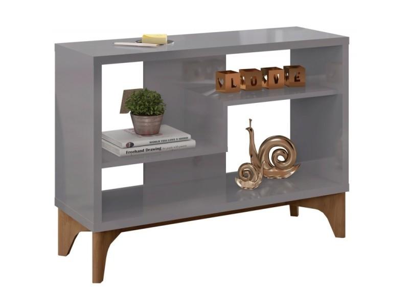 Rayonnage gris et chêne design