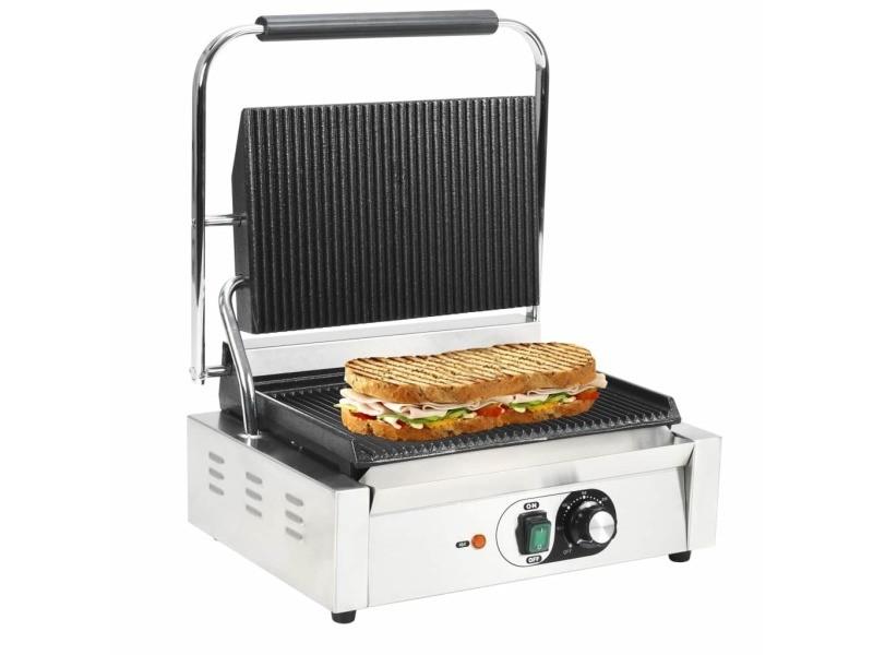 Joli électroménager de cuisine reference bogota grill rainuré pour panini 2200 w 44 x 41 x 19 cm