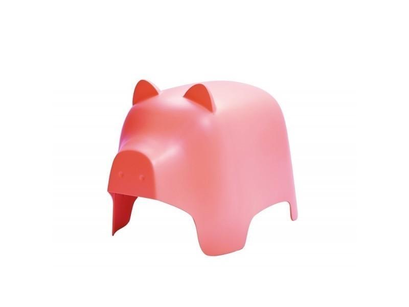 Chaise enfant rose - cochon