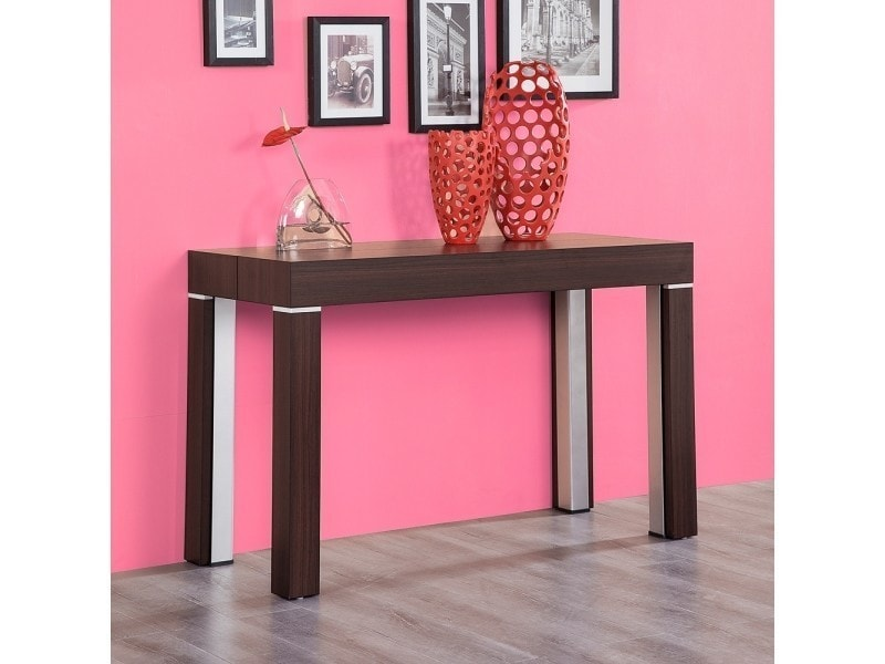 table console extensible stacy bois marron 3m vente de. Black Bedroom Furniture Sets. Home Design Ideas