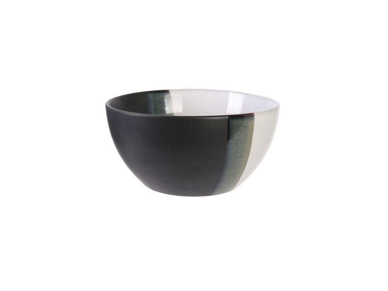 Lot 2x bol design black and white - 650 ml - blanc
