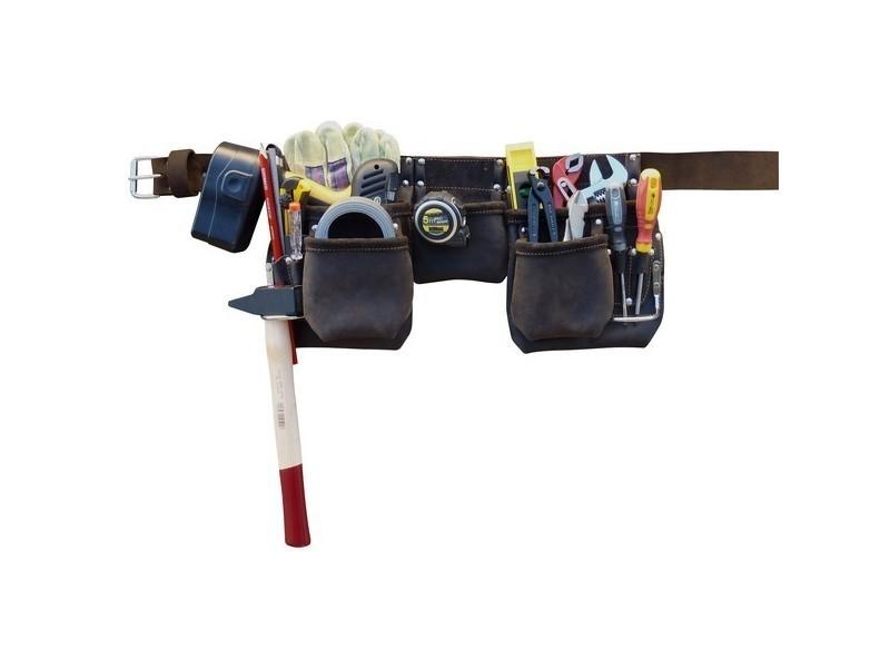 Outifrance - ceinture à outils pro cuir 11 compartiments 2620043