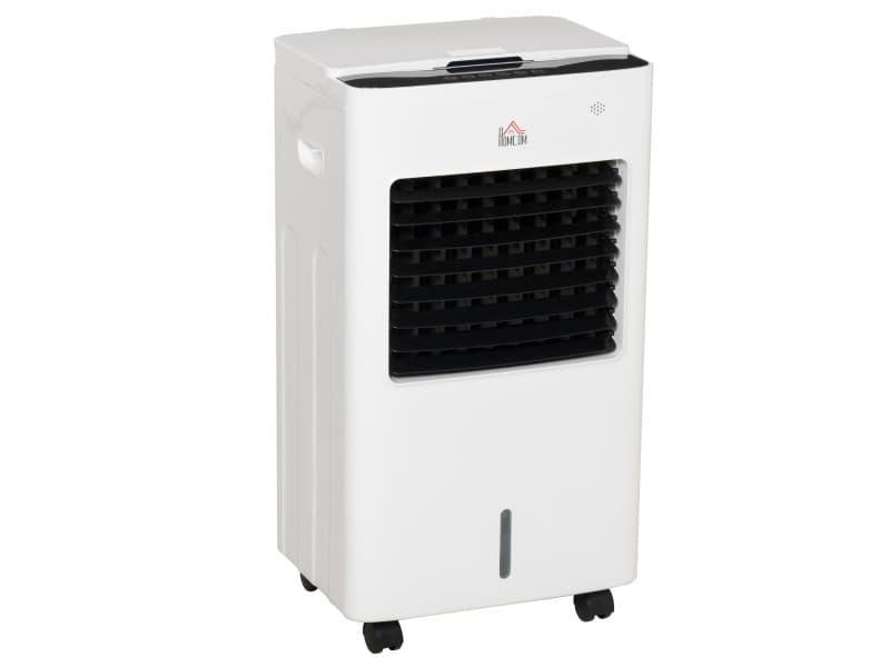 Déshumidificateur ventilateur humidificateur 3 en 1 avec télécommande - portable silencieux oscillant 75 w - capacité max. Réservoir 8,5 l - évacuation continue idéal pièces 20 m² max. Blanc noir