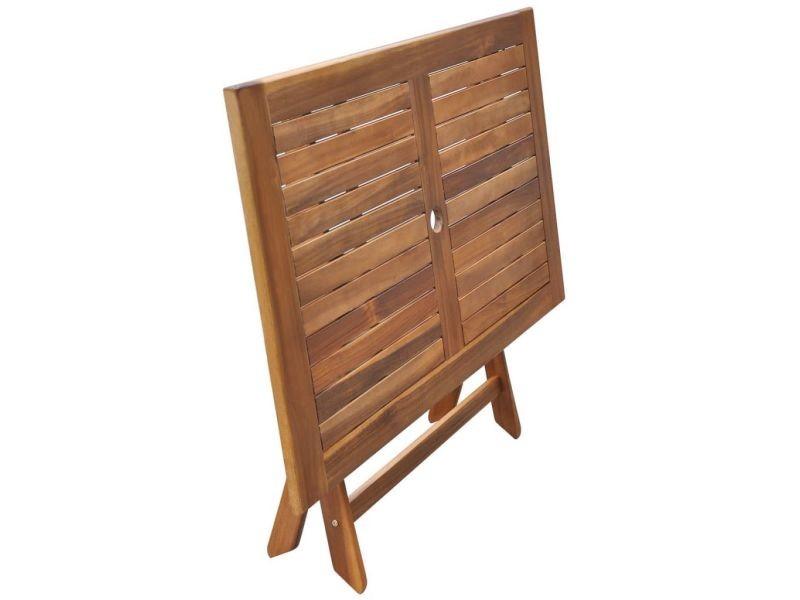 Icaverne - tables d'extérieur ensemble table de salle à manger d'extérieur en bois d'acacia